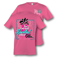 Itsa girl Thing Oil Field You Can't Spell Spoiled Without Oil Bright Girlie T-Shirt