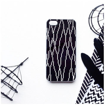 iPhone 6 Case, iPhone 5C Case Geometric Lines, TOUGH iPhone 5s Case Geo Print iPhone 4 Case, Black White iPhone Case, Geometric iPhone 5 C1