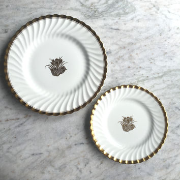 Vintage Tiffany & Co. Luncheon Plate Set