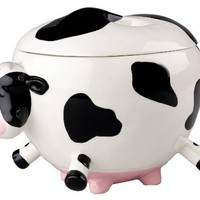 Boston Warehouse Udderly Cows Snack Jar