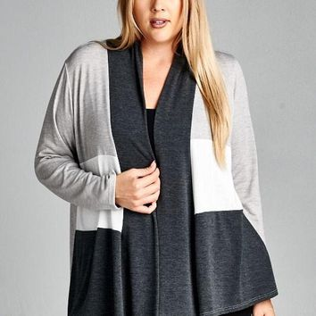 Plus Sized Gray Cardigan