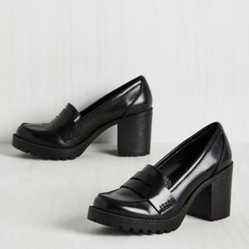 Loafer and Done With Heel | Mod Retro Vintage Heels | ModCloth.com