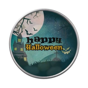 Spooky Haunted House Costume Night Sky Halloween Jelly Belly Candy Tin