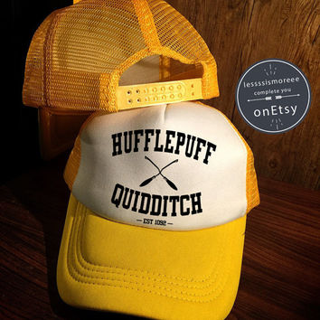 Hufflepuff quidditch Hats Hufflepuff Hats Hogwarts Caps Harry Potter Hats Trucker Hat