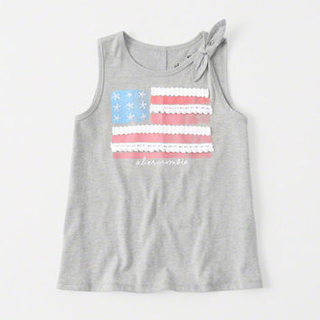 girls Graphic Knot Tank | girls clearance | Abercrombie.com