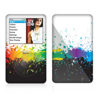 The Rainbow Paint Spatter Skin For The Apple iPod Classic