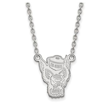 NCAA Sterling Silver North Carolina Large Pendant Necklace