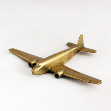 1930s Vintage Art Deco Airplane Aircraft Metal Industrial Home Decor