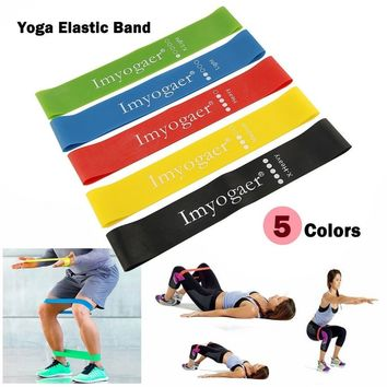 5 Pcs Sport Resistance Bands Loop Exercise Yoga Elastic Workout Band Fitness Training