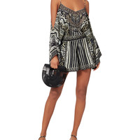 Tribal Theory Cold Shoulder Playsuit