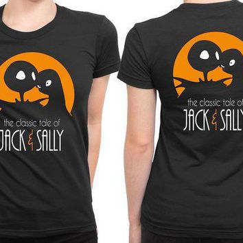 The Classic Tale Of Jack And Sally 2 Sided Womens T Shirt