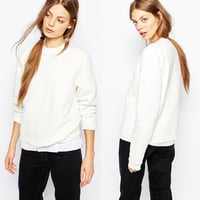 Long Sleeve Simple Round-neck [6338697860]