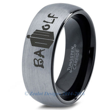 Bad Wolf Brushed Tungsten Dome Cut