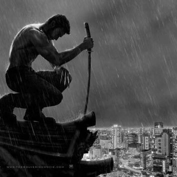 """Wolverine Poster Black and White Poster 24""""x36"""""""
