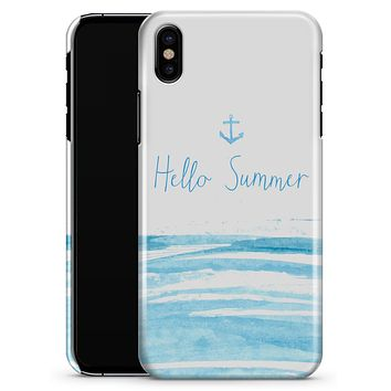 Hello Summer Anchor Watercolor Blue V1 - iPhone X Clipit Case