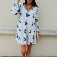 Free People Wild Flower Tunic Dress - Agave