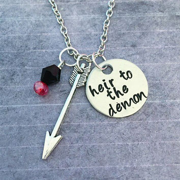 Heir To The Demon Necklace - Arrow CW Jewelry - Oliver Queen Inspired Jewelry - Fandom Jewelry - League Of Assassins Jewelry