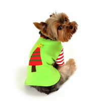 Christmas Tree Shirt Dog Costume - Extra Small