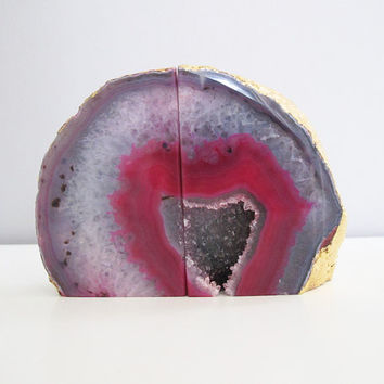 Natural Geode Bookends by NinaMantra on Etsy
