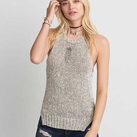 AEO Side Slit Muscle Tank , Gray