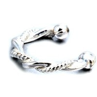 Sterling Silver .925 Spiraled Rope Twist Ear Cuff Wrap Include Special Gift Pouch.