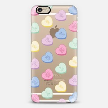 Valentines Conversation Candy Hearts iPhone 6s case by RubyRidgeStudios | Casetify