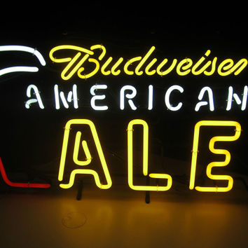 Budweiser American Ale Neon Sign Real Neon Light