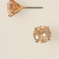 Chloe Cubic Zirconia Stud In Champagne