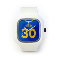 Stephen Curry Watch in a White Strap