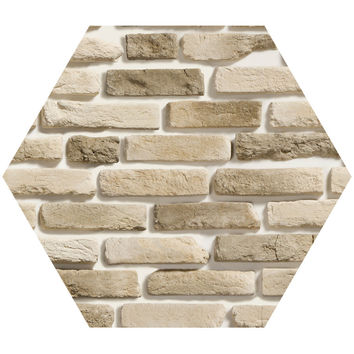 Assorted Brick Hex Wall Decal