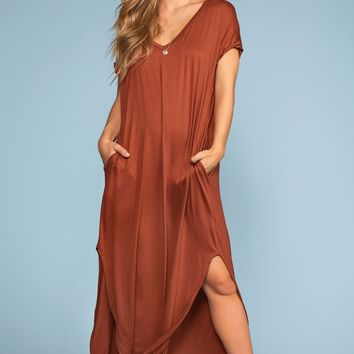 Sand Dollar Maxi Dress - Cinnamon
