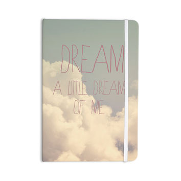 "Rachel Burbee ""Dream of Me"" Tan White Everything Notebook"