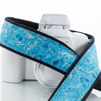 Camera Strap, dSLR, Pocket, Dark Matter, Aqua, Turquoise, Blue, Gold, SLR, 135