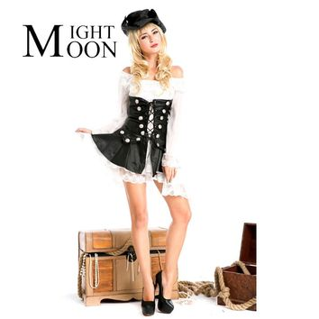 MOONIGHT Adult Sexy Pirate Costumes Sets 2017 Halloween Cosplay Costumes for Women