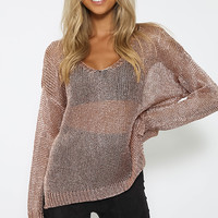 Darkshine Top - Rose Gold