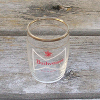 Vintage Budweiser Small Glass King of Beers