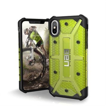 CREYRQ5 UAG iPhone X Plasma Feather-Light Rugged [CITRON] Military Drop Tested iPhone Case