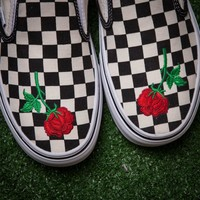 Vans Rose Embroidered casual shoes