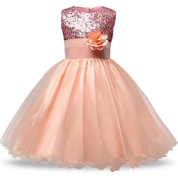 Girl Party Dress Summer 4-12 Princess Birthday Wedding Dress for Girls Dresses Kids Clothes Tutu Flower Dress Children Clothes