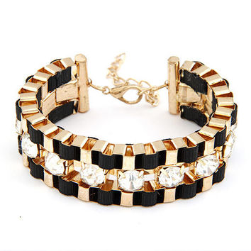 2016 Pulseiras Mujer Fashion Gold Charms Bracelets & Bangles for Women Jewelry Brazaletes Pulseras Crystal Bracelet Femme Bijoux