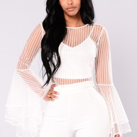 Eireen Mesh Top - White