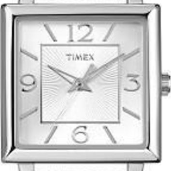 Timex Womens Elevated Classics Metallic Strap Watch