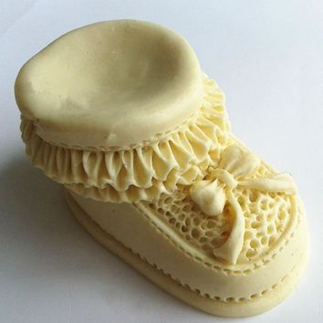 Design 349 Baby's Shoes Shape  Silicone  Mold, 3D Fondant Mold,Soap Mold,Chocolate Mold,Cake  Tool