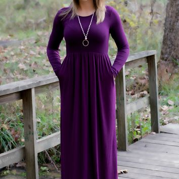 Night Out Maxi-Plum