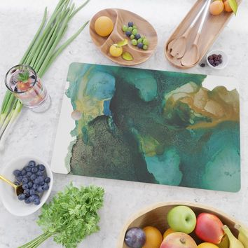Green and Gold Cutting Board by duckyb