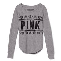 Thermal Sleep Tee - PINK - Victoria's Secret