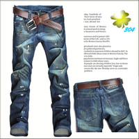 Designer Ripped Fashion Men Slim Denim Jeans