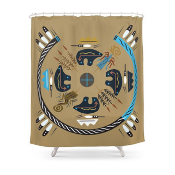 Society6 American Native Pattern No. 10 Shower Curtains