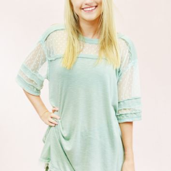 Dusty Mint Dream Top - Mint