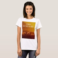 Stroll in the Plains Animals Women's Basic T-Shirt